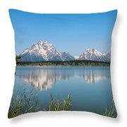 The Tetons On Jackson Lake - Grand Teton National Park Wyoming Throw Pillow