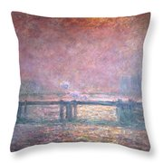 The Thames At Charing Cross Throw Pillow