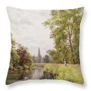 The Thames At Purley Throw Pillow