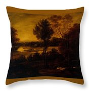The Thames From Richmond Hill Throw Pillow