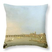 The Thames From The Terrace Of Somerset House Throw Pillow