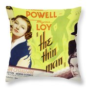 The Thin Man 1934 Throw Pillow
