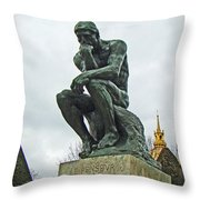 The Thinker By Rodin Throw Pillow by Al Bourassa