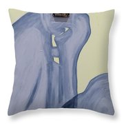 The Thinker With Memory 1,5 Tb Throw Pillow