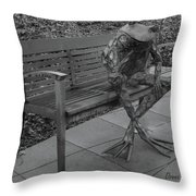 The Thinking Frog Throw Pillow