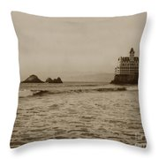 The  Third Cliff House And Seal Rocks From Pier, San Francisco,  Circa 1895 Throw Pillow