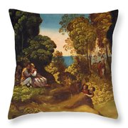 The Three Ages Of Man 1515 Throw Pillow