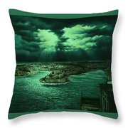 The Three Cities Throw Pillow