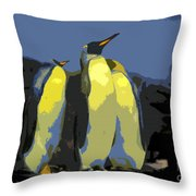 The Three Emperors Throw Pillow