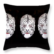 The Three Faces Throw Pillow