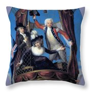 The Three Favorite Air Travelers Throw Pillow