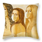 The Three Graces Throw Pillow