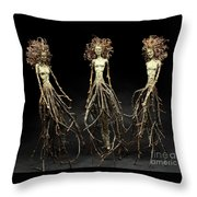 The Three Graces Dance Throw Pillow