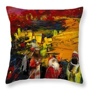 The Three Kings Throw Pillow