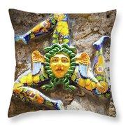 The Three-legged Symbol Of Sicily, Italy - Trinacria  Throw Pillow