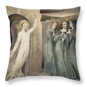 The Three Maries At The Sepulchre Throw Pillow
