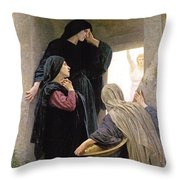 The Three Marys At The Tomb Throw Pillow