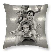 The Three Mermaids Throw Pillow