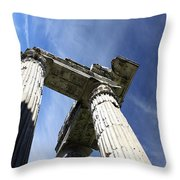 The Three Pillars Throw Pillow