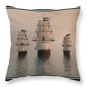 The Three Ships Throw Pillow