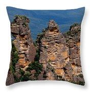 The Three Sisters Katoomba Australia Throw Pillow