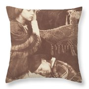 The Three Sleepers: Sophia Finlay, Harriet Farnie And Brownie Throw Pillow