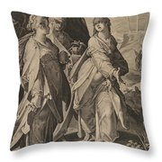 The Three Women Returning From The Tomb Throw Pillow