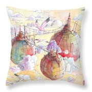 The Three Worlds Throw Pillow