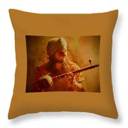 The Artist And His Muse Throw Pillow