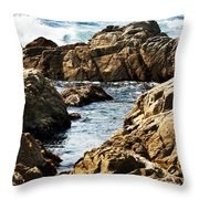 The Tide Rushes In Throw Pillow