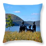 The Tides And The Hudson Throw Pillow