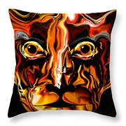 The Tigress. Throw Pillow