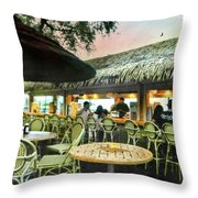 The Tiki Bar Throw Pillow