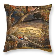 The Timber Wain Throw Pillow