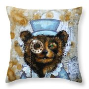 The Times Bear Throw Pillow