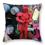 The Tin Man Throw Pillow