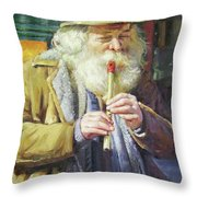 The Tin Whistle Throw Pillow