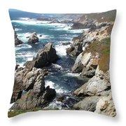 The Tintagel Coast Throw Pillow
