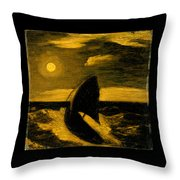 The Toilers Of The Sea Throw Pillow