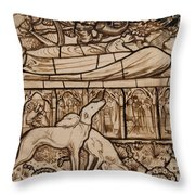 The Tomb Of Tristram And Iseult Throw Pillow