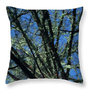 The Top A Glowing Tree Throw Pillow