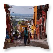 The Top Of Calle Umaran Throw Pillow
