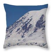The Top Of Mount Rainier Throw Pillow