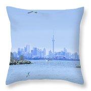 The Toronto Skyline Throw Pillow
