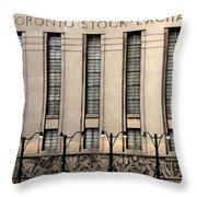The Toronto Stock Exchange Throw Pillow