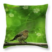The Touch Of The Spring Throw Pillow