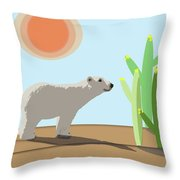 The Tourist Throw Pillow