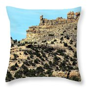 The Tower And The Castle Throw Pillow