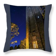 The Tower At Night Throw Pillow