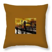 The Tower Bridge As I See Throw Pillow